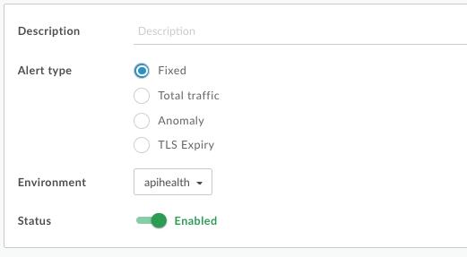 The create alert dialog box now has multiple alert types