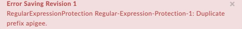 DuplicatePrefix error text