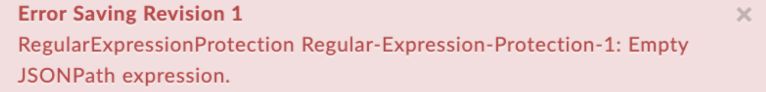 EmptyJSONPathExpression error text