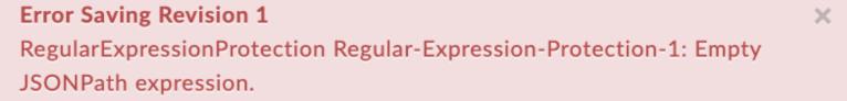 EmptyJSONPathExpression error text