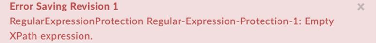 EmptyXPathExpression error text