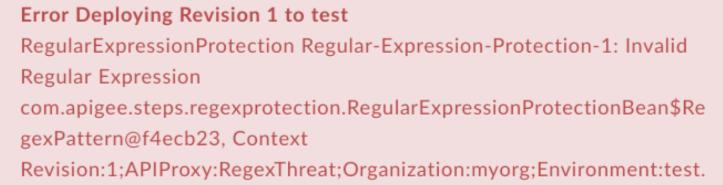 InvalidRegularExpression error text