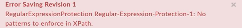 NoPatternsToEnforce error text