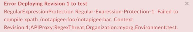 XPathCompilationFailed error text