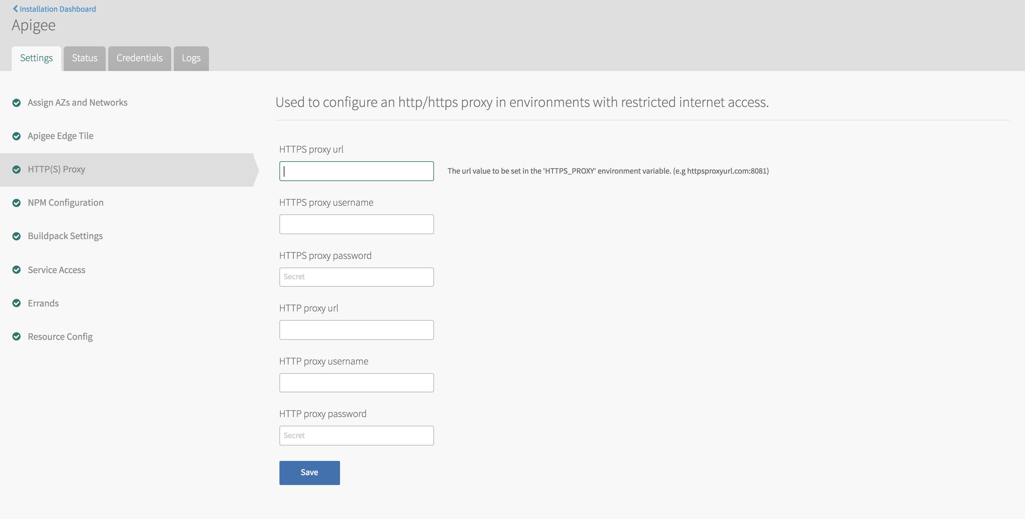 Apigee Edge NPM configuration