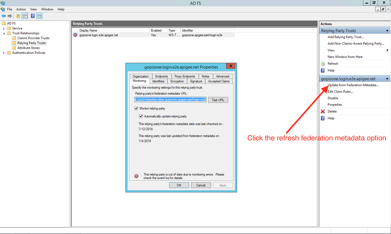 Update the Edge SSO Service Provider certificate | Apigee Docs