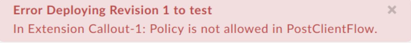 Allow Extensions In Post Client Flow error message