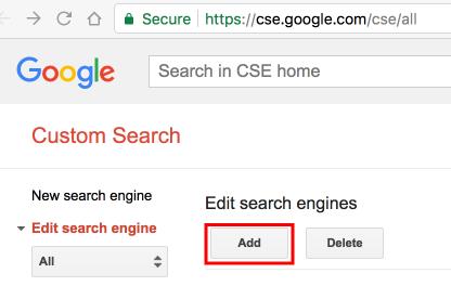 Google カスタム検索エンジン
