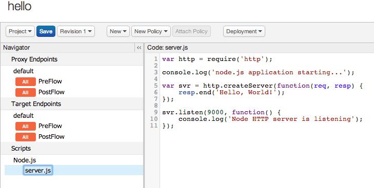 Adding Node js to an existing API proxy | Apigee Docs