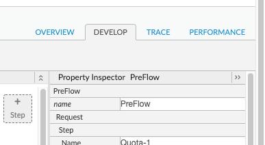 Proxy builder Develop tab