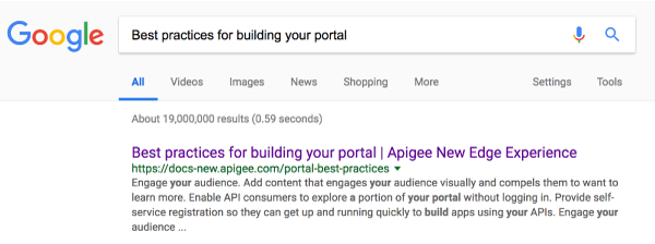 Best practices for building your portal | Apigee Docs