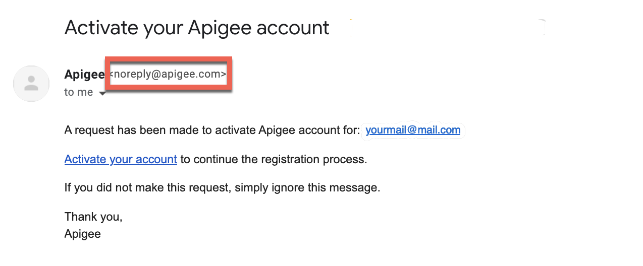activate account email
