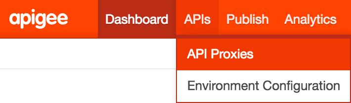 APIs menu