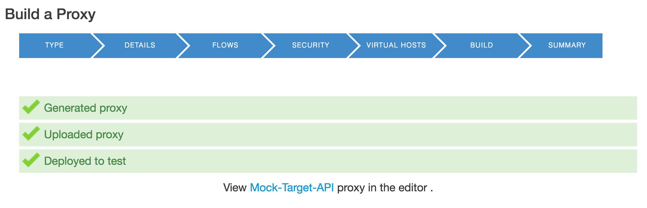 Build a Proxy Summary
