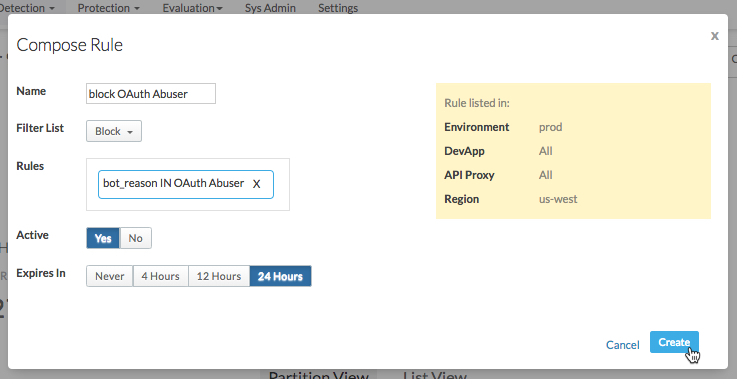 Getting started with the Apigee Sense Console   Apigee Docs
